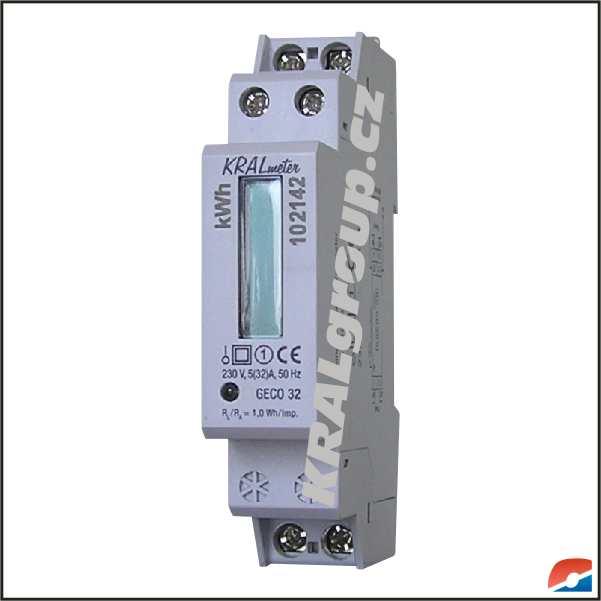 Elektroměry na lištu DIN :: jednofázové - přímé :: pro podružné měření :: GECO32