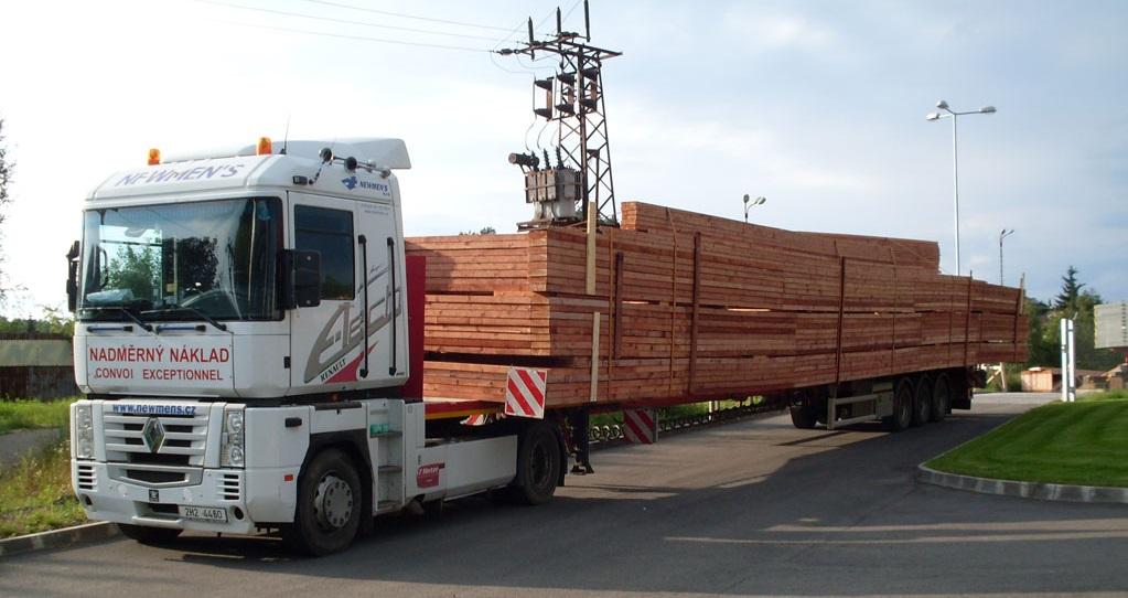 Kamionová doprava - přeprava nadměrných nákladů výhodně - Trutnov