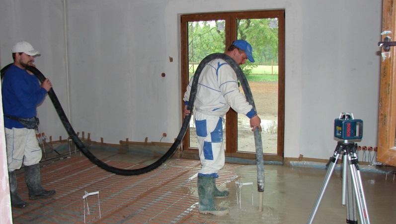 Anhydritové podlahy jsou ideální pro podlahové topení.