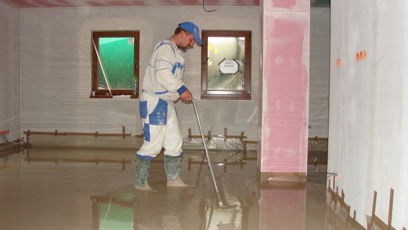Cementové podlahy pokládáme technikou Cemflow.