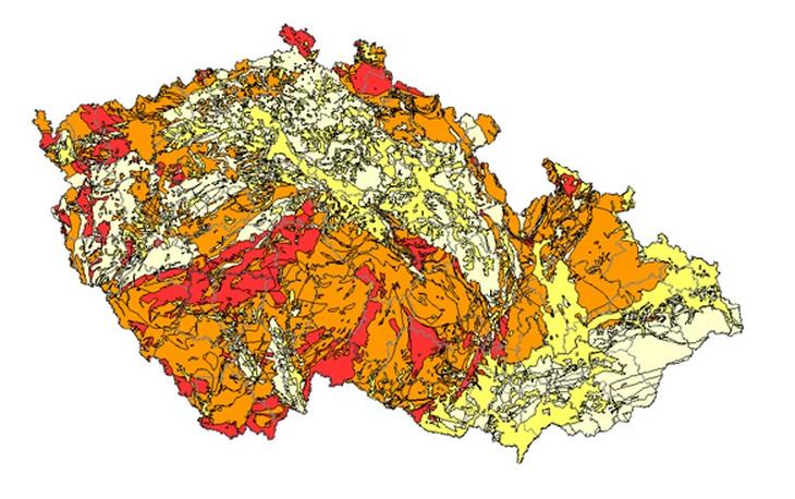 Na mapě jsou zobrazeny nejvíce postižené oblasti
