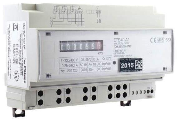 Elektroměr s montáží na lištu DIN