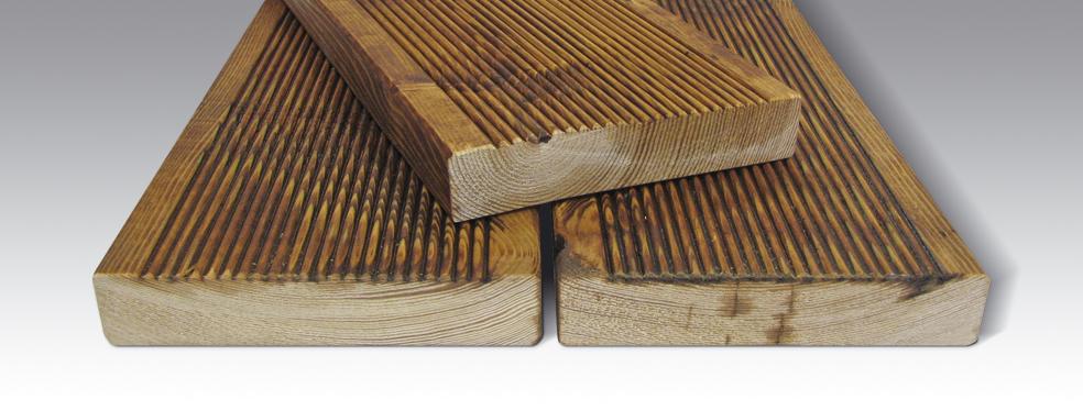 Terasy, terasové profily, stavební hranoly ze sibiřského modřínu Zlín