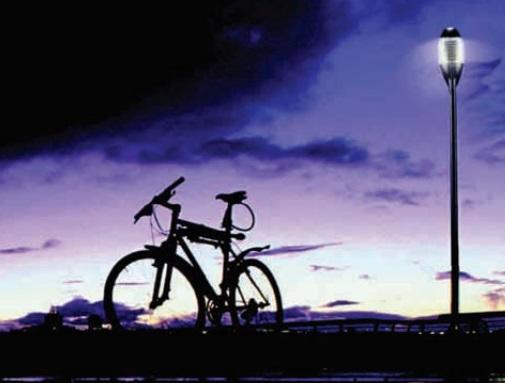 Veřejné osvětlení poslouží ve městě i v parku.