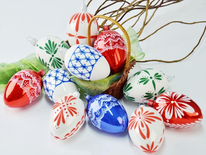 Skleněné velikonoční ozdoby