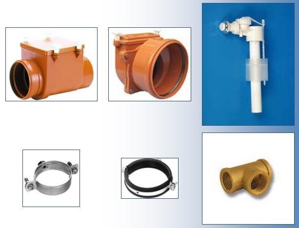 Vodoinstalační materiál - armatury, fitinky