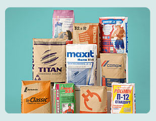 Paper bags for construction, food and chemical industry