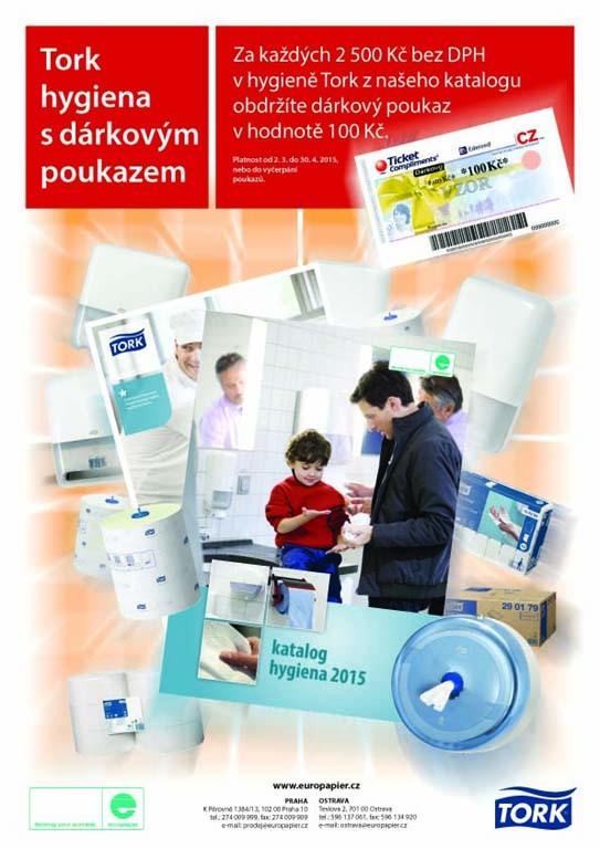 Hygiena Tork od EUROPAPIER - BOHEMIA, spol. s r.o.