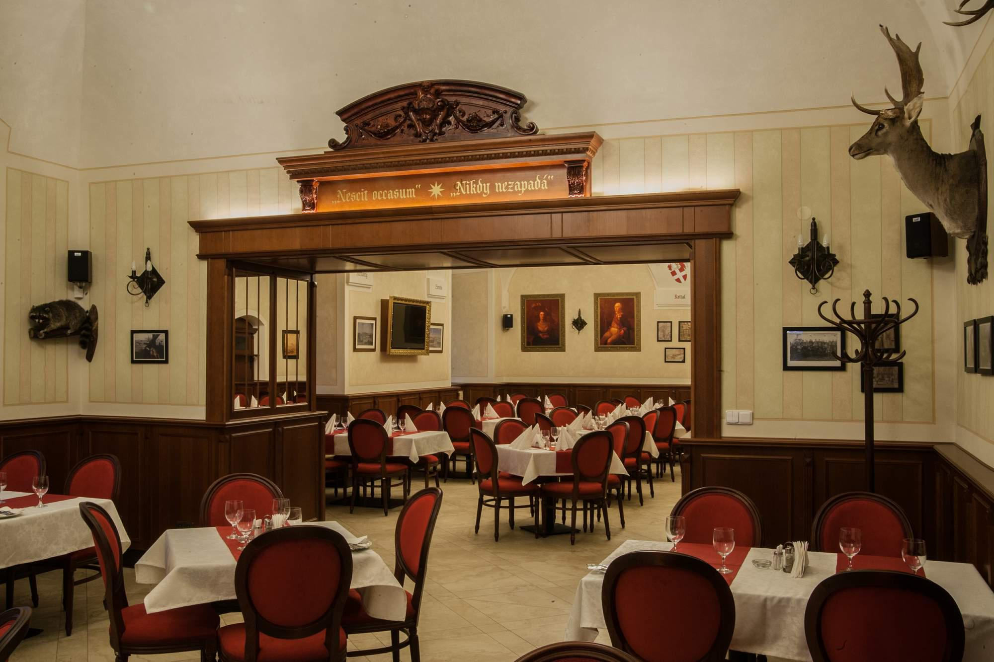Zámecká atmosféra, speciality, dárkový poukaz do restaurace