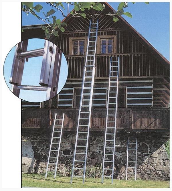 Hliníkový žebřík vám poslouží třeba na chatě