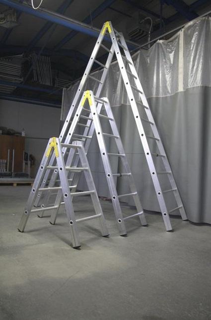 Dvojité hliníkové žebříky
