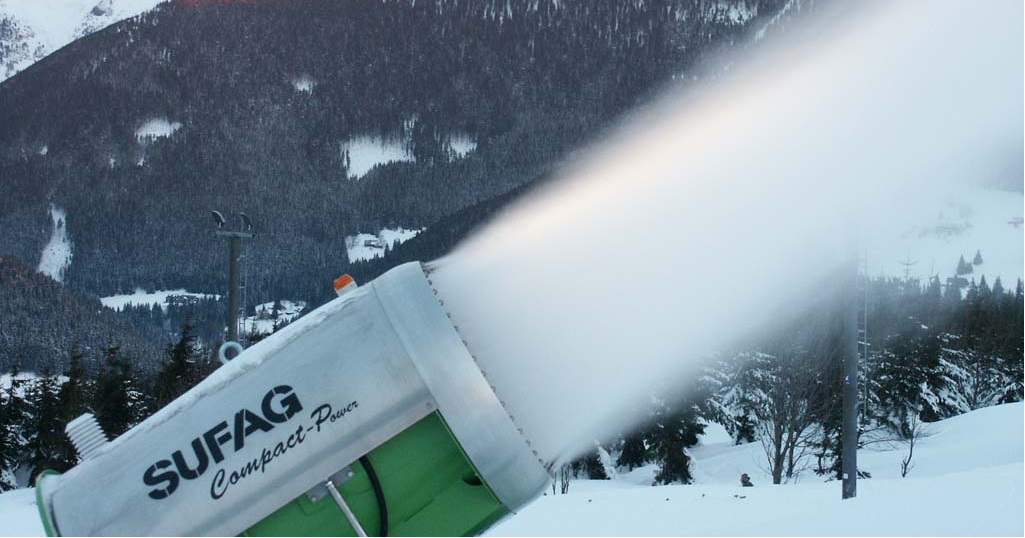 Potrubní systémy ALVENIUS se hodí i pro výrobu technického sněhu