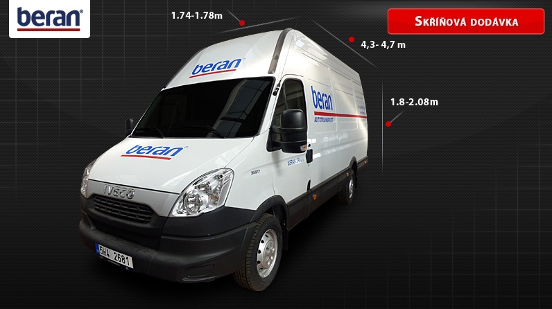 K dispozici jsou vám nákladní vozy i menší dodávky.