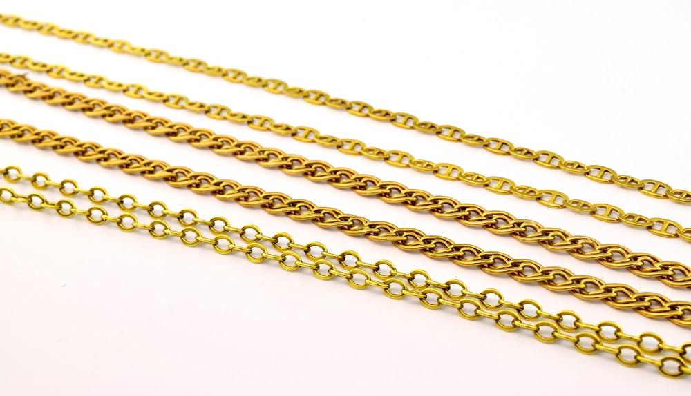levný zlatý řetízek z bazaru