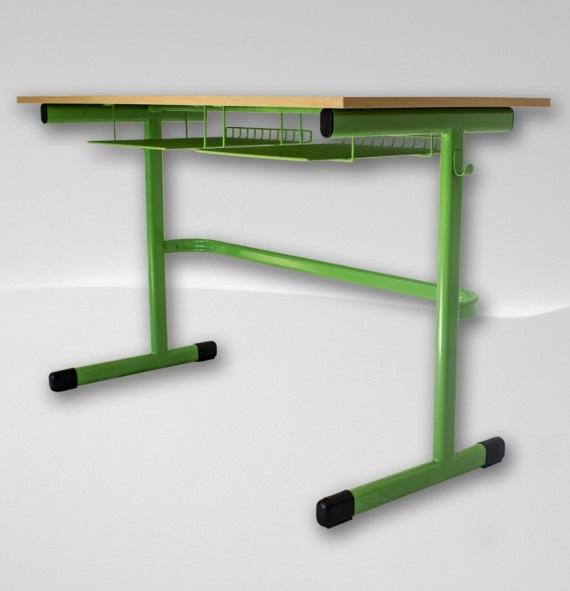 školní lavice zelená