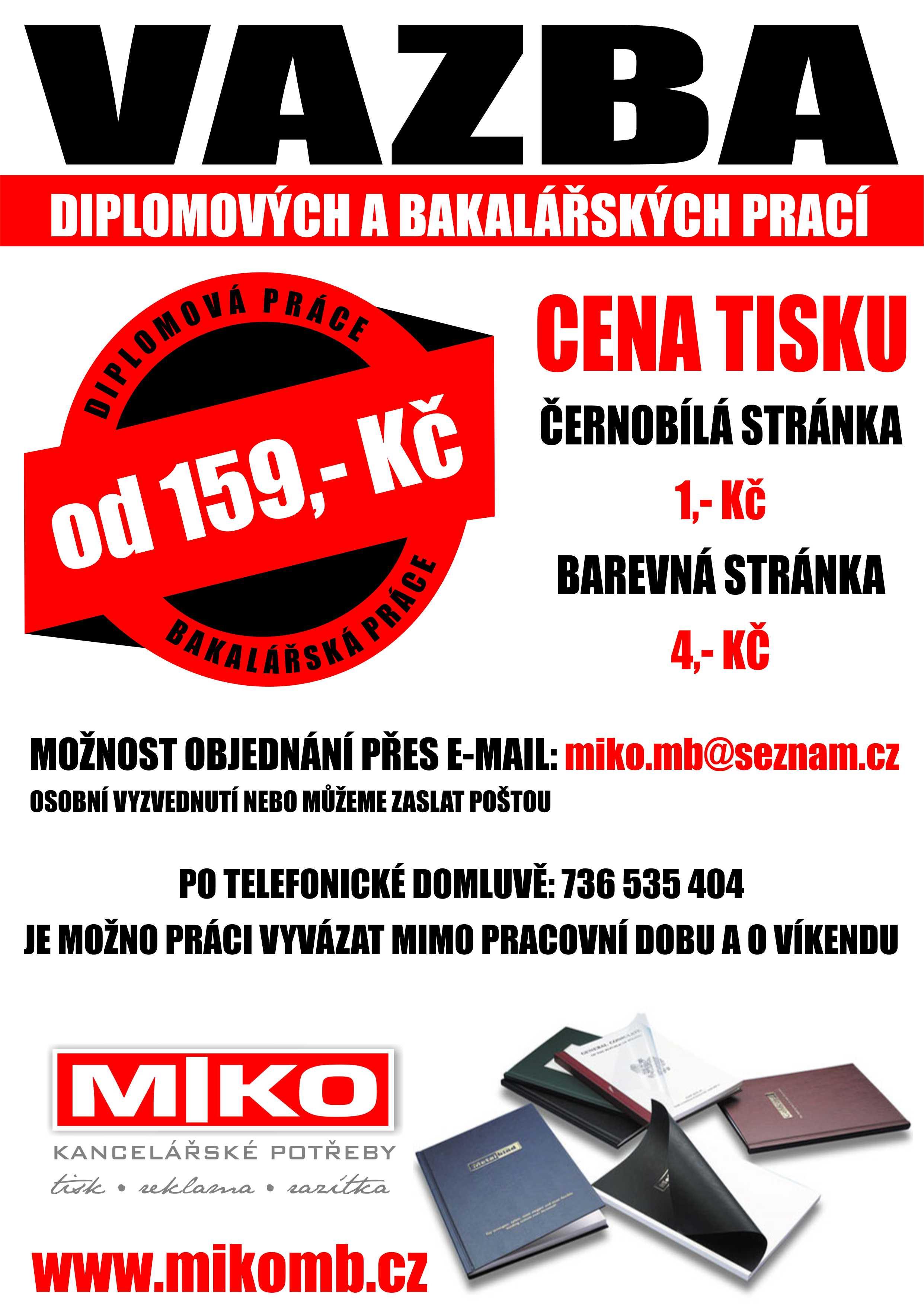 Vazba diplomových a bakalářských prací Moravské Budějovice