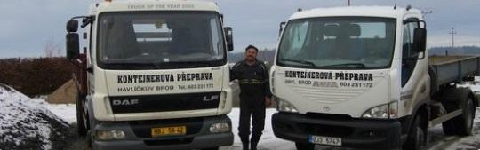 Karel Zadina nabízí přistavení kontejneru po celé České republice.