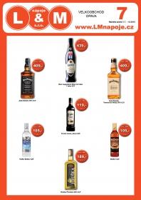 Akční nabídka alkoholických a nealkoholických nápojů Opava