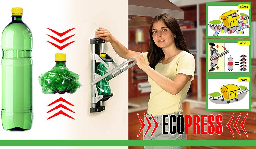 ECOPRESS Presse für PET Flaschen, die Tschechische Republik