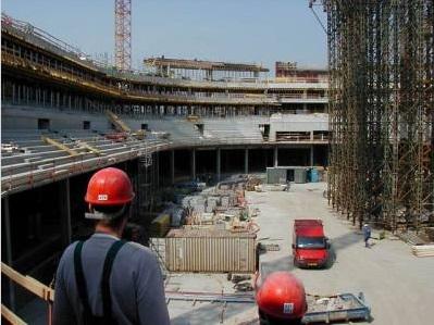 Stavební práce hala Sazka