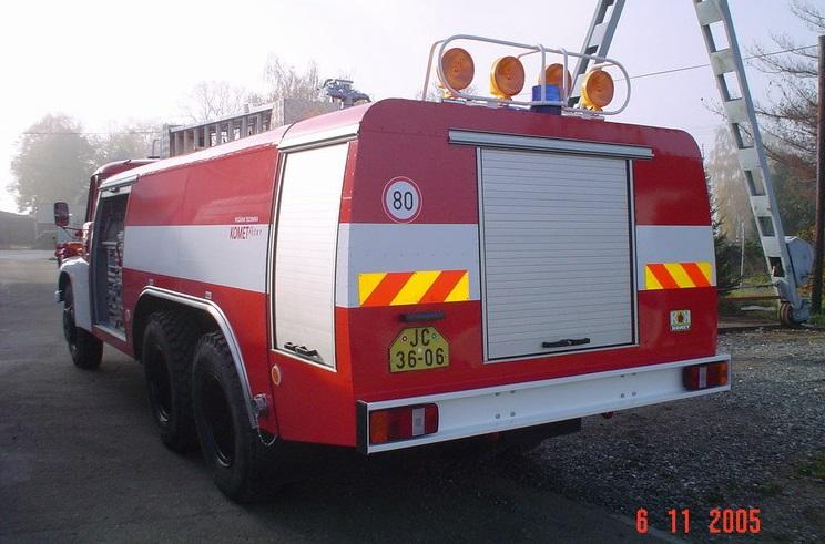 hasičské auto - opravy