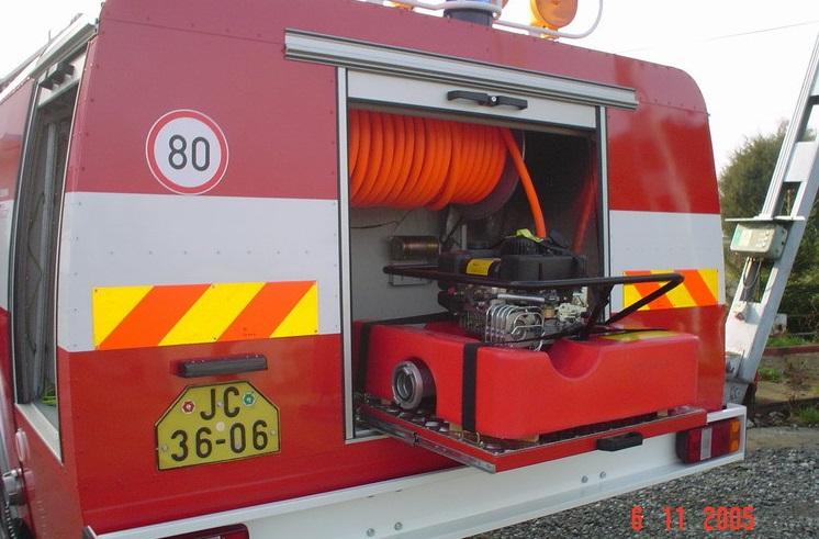 hasičské auto - modernizace