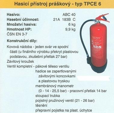 Hasicí přístroje vám mohou při požáru zachránit život.