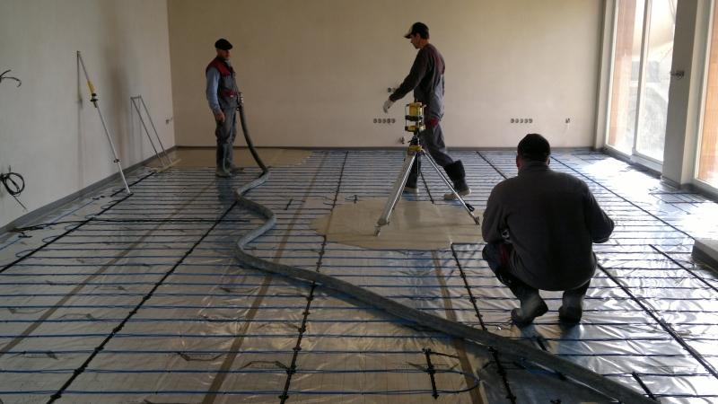 Realizace lité, anhydritové, cementové, průmyslové, epoxidové podlahy Zlín