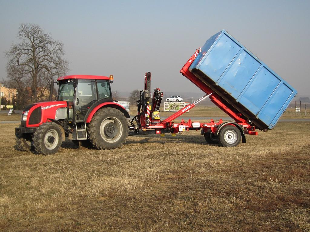 Traktorové návěsy, kontejnerové nosiče-hákové a ramenové nosiče kontejnerů