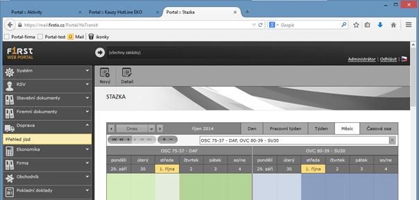 Informační systém Helios Orange Ostrava – web portál