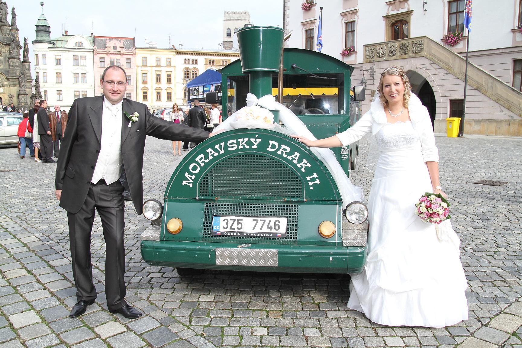 Svatební jízda vláčkem - Zlín, Olomouc