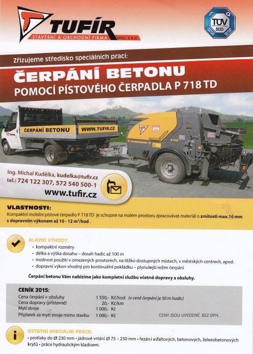 Čerpání betonu-mobilní, pístové čerpadlo p718 td pro použití na stavbě