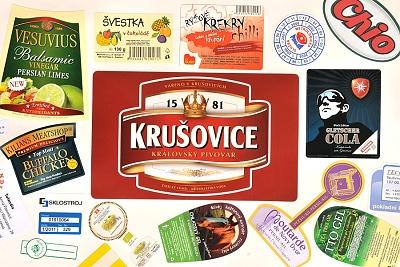 Selbstklebende Etiketten express Prag, die Tschechische Republik
