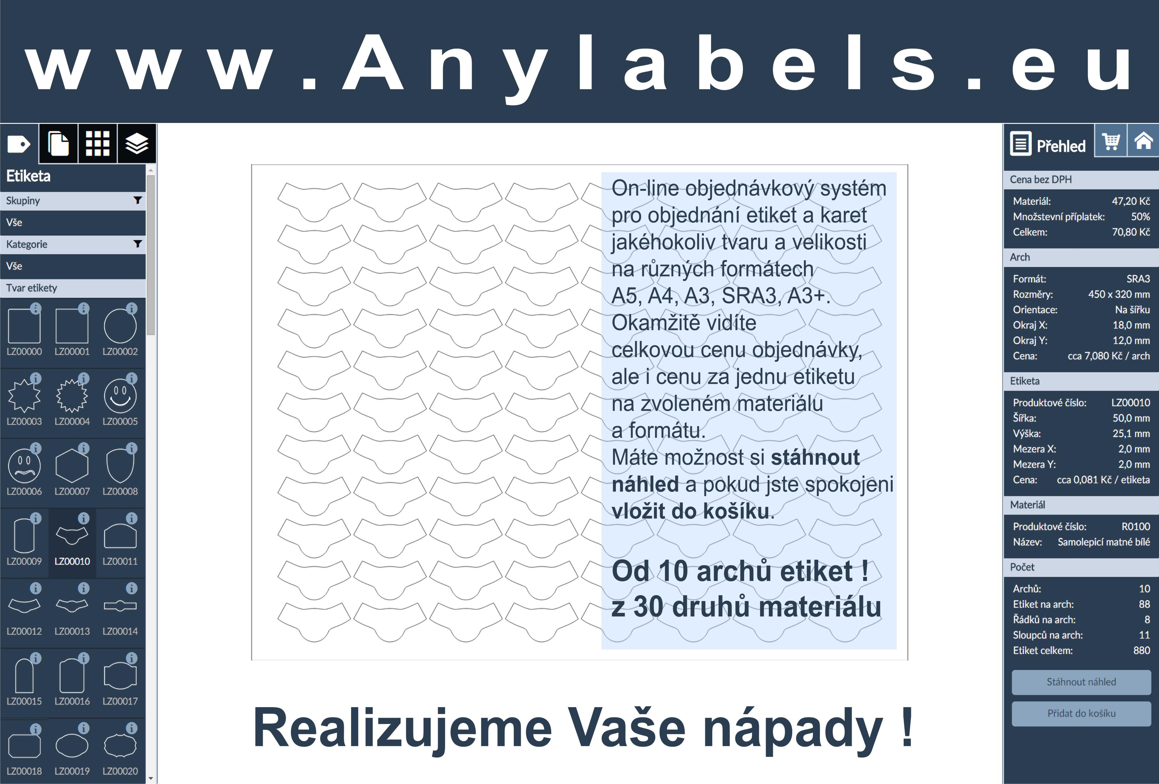 Výroba lepících etiket a štítků