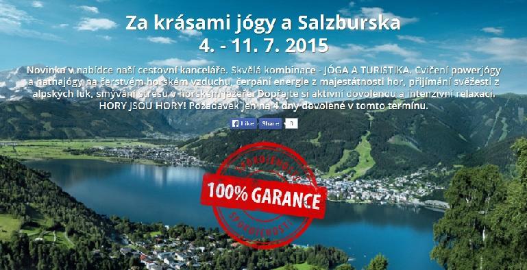 Zájezd do Salzburska, ubytování v penzionu, powerjóga-CK Kroměříž