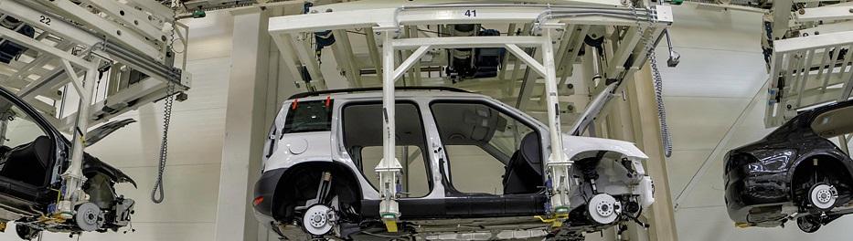 Nabízíme svařovací, montážní i dopravní linky pro automobilový průmysl.