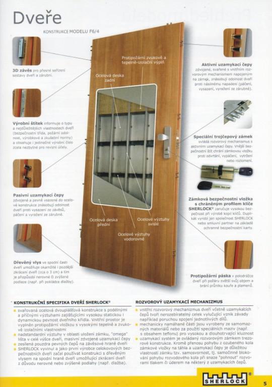 prodej a montáž bezpečnostní dveře Sherlock Šumperk