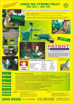 Anlage für Herstellung von Pellets Pelletpresse, Pressen der Pellets die Tschechische Republik