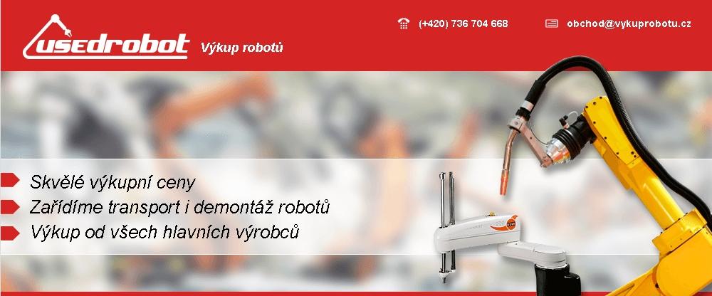 Výkup použitých priemyselných robotov, Kroměříž, Zlín, ČR
