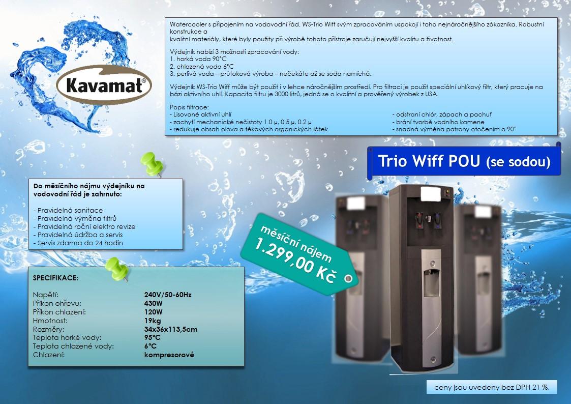Sodobary, aquabary, filtrovaná voda bez čekání - pronájem na 24 hodin denně