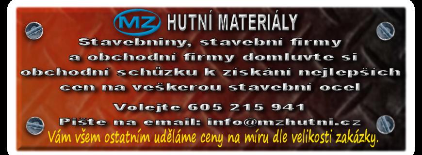 Prodej, úprava a dělení hutního materiálu