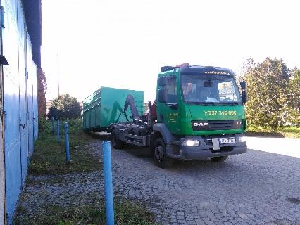 Přistavení kontejneru na stavební odpad, suť