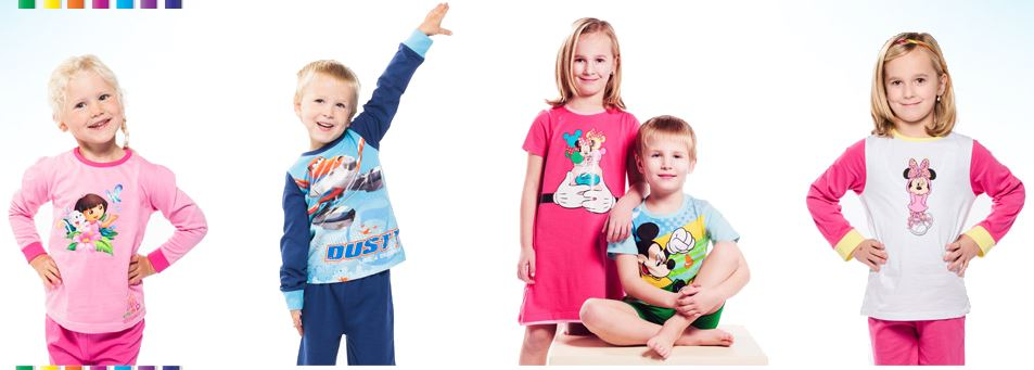 Children's clothing with cartoon heroes will brighten up all boys and girls - Prague, the Czech Republic