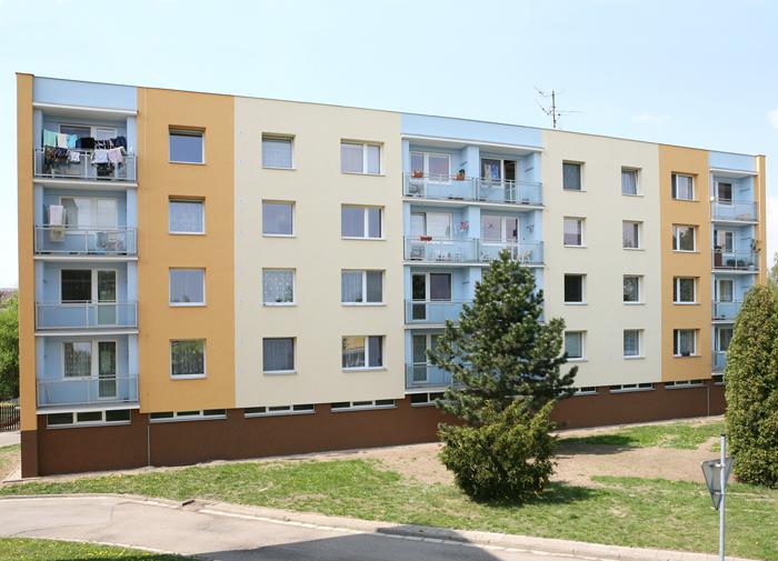 Zateplení fasády bytových domů