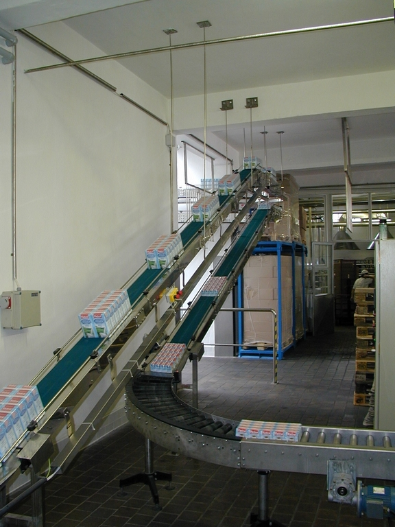 Belt conveyors from the producer TMT Chrudim, the Czech Republic