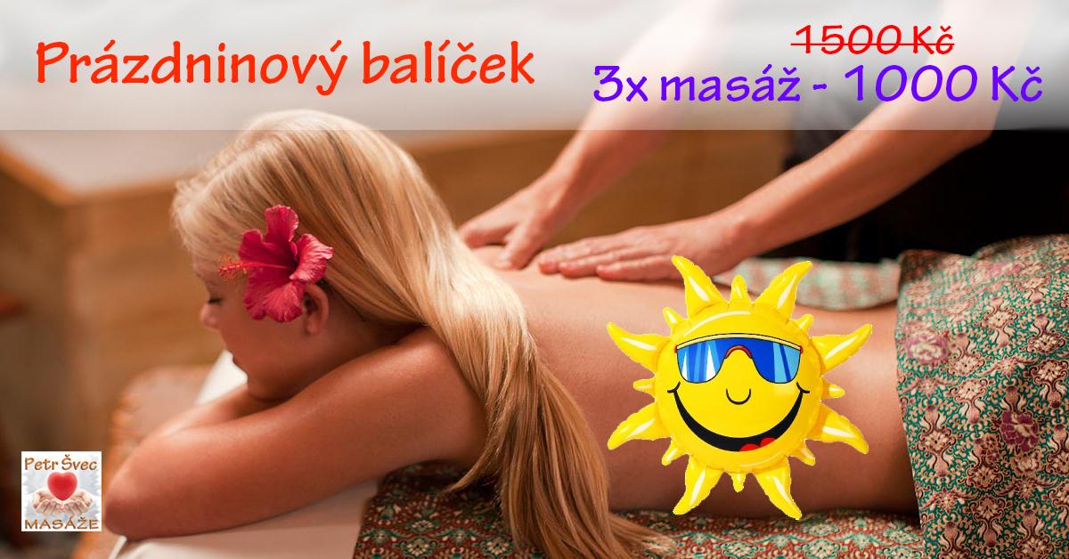 Prázdninový balíček masáží