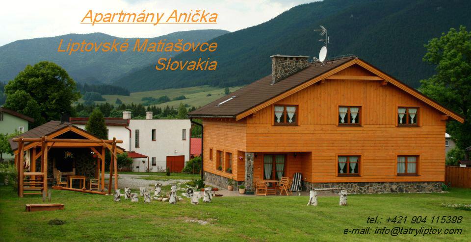 Ubytování v soukromí, v penzionu, v apartmánu-Nízké Tatry