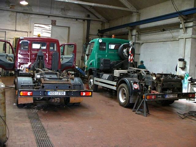 Servis nákladních aut u firmy Beran