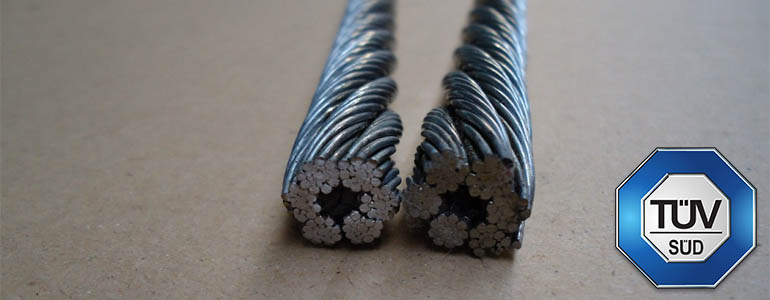 Ocelová lana jednopramenná