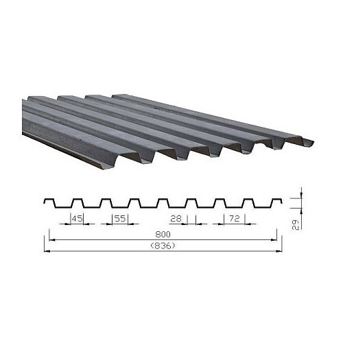 Plechové lehké střechy - hliníková, pozinkovaná střešní krytina